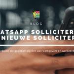 Whatsapp solliciteren; het nieuwe solliciteren